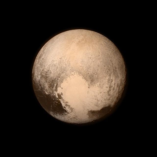 Pluto în data de 13 iulie, de la o depărtare de 766.000 km. Foto:  NASA