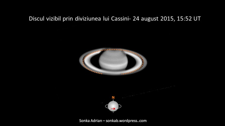 Discul vizibil prin diviziunea lui Cassini