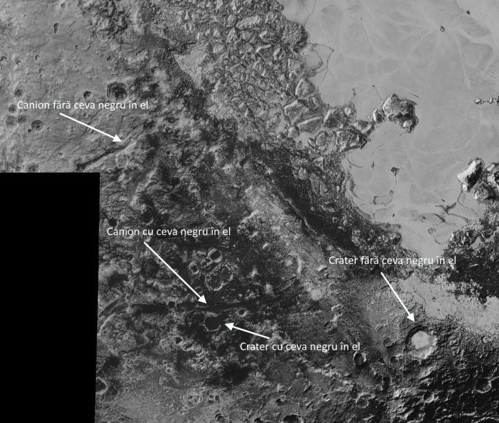 Alte zone de pe planeta pitică Pluto. Foto: NASA / JHUAPL / SwRI