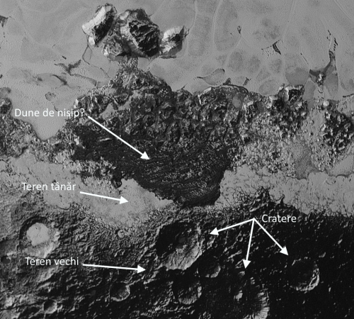 Una din noile imagini cu Pluto. Foto: NASA / JHUAPL / SwRI