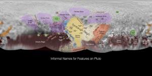 Harta planetei pitice Pluto. Hartă realizată de NASA