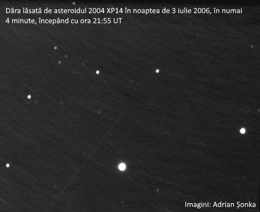 Asteroidul 2004 XP14 pe 3 iulie 2006