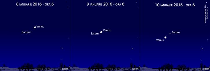 Venus și Saturn se întâlnesc pe cerul de dimineață