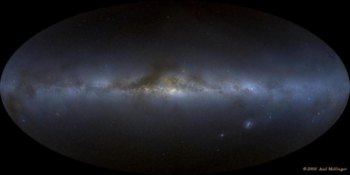 Imagine panoramică a întregului cer, realizată de Axel Mellinger