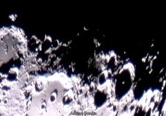 Craterul Moretus și împrejurimile sale. Foto: Adrian Șonka