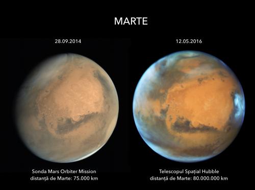 Comparație între Mars Orbiter Mission și Telescopul Spațial Hubble