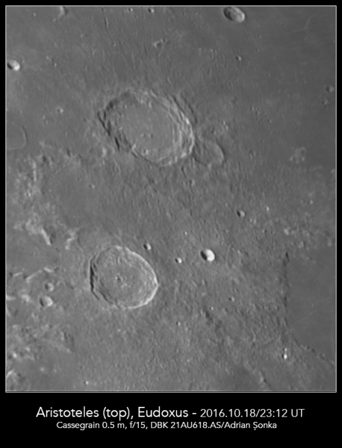 Craterele Aristoteles și Eudoxus. Foto: Adrian Șonka