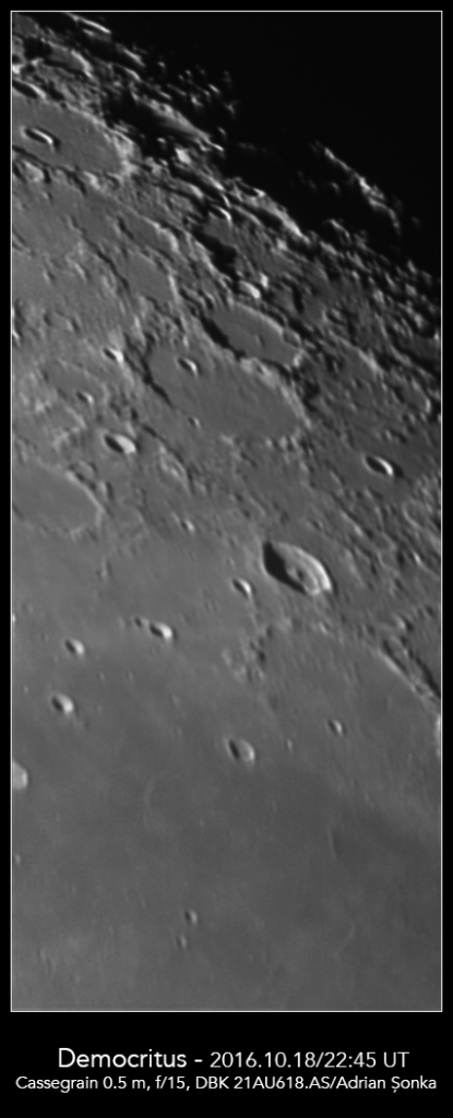Craterele Democritus și Arnold. Foto: Adrian Șonka