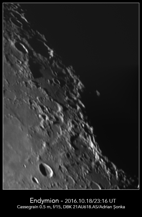 Craterele Endymion și De La Rue. Foto: Adrian Șonka