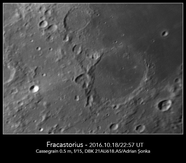 Craterul Fracastorius. Foto: Adrian Șonka