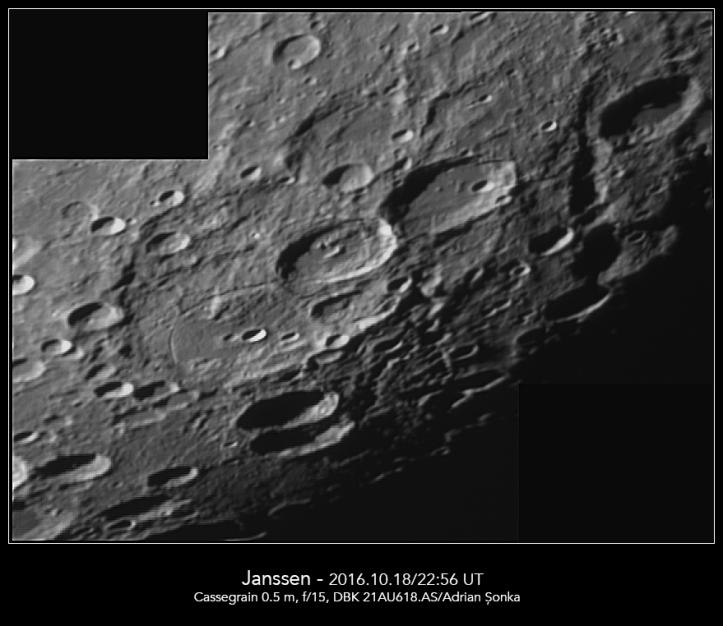 Craterul Jannsen. Foto: Adrian Șonka