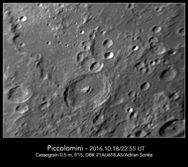 Craterul Piccolomini. Foto: Adrian Șonka