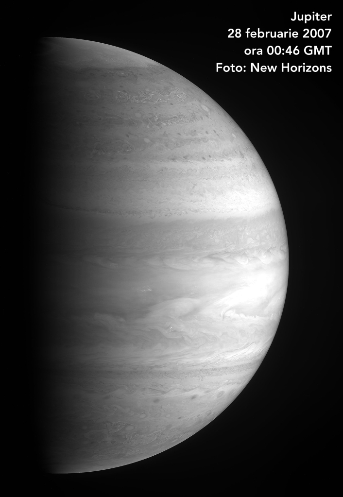 Planeta Jupiter de la 2,3 milioane de km depărtare. Foto: NASA/Johns Hopkins University Applied Physics Laboratory/Southwest Research Institute
