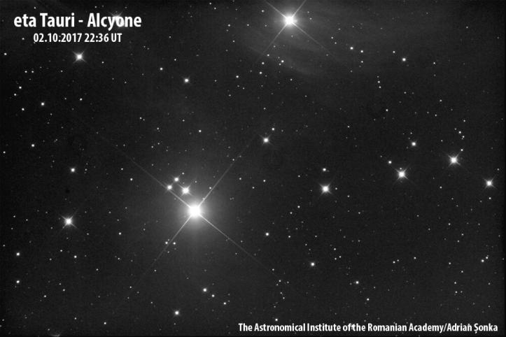 Alcyone. Imagine: Institutul Astronomic al Academiei Române/Adrian Șonka