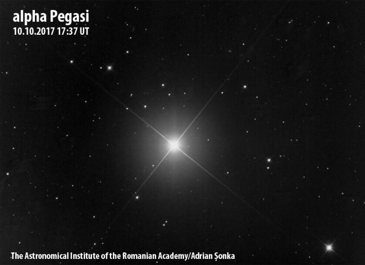 Alpha Pegasi. Imagine: Institutul Astronomic al Academiei Române/Adrian Șonka