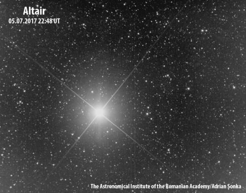 Steaua Altair. Imagine: Institutul Astronomic al Academiei Române/Adrian Șonka