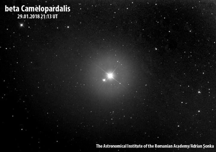 Beta Camelopardalis. Foto: Institutul Astronomic al Academiei Române/Adrian Șonka