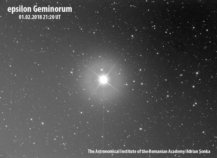 Epsilon Geminorum. Foto: Institutul Astronomic al Academiei Române/Adrian Șonka
