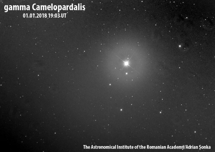 Gamma Camelopardalis. Foto: Institutul Astronomic al Academiei Române/Adrian Șonka