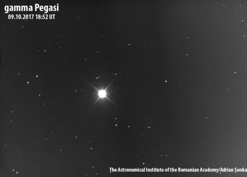 Gamma Pegasi. Foto: Institutul Astronomic al Academiei Române/Adrian Șonka