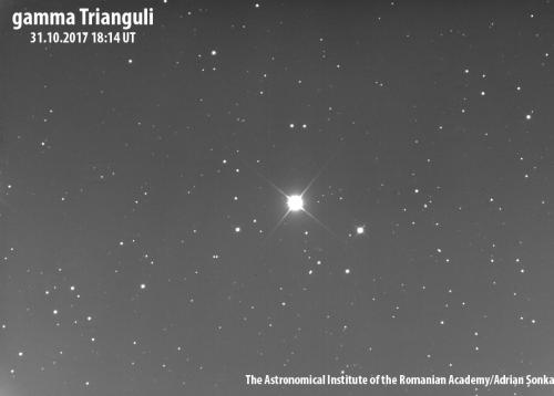 Gamma Trianguli. Foto: Institutul Astronomic al Academie Române/Adrian Șonka