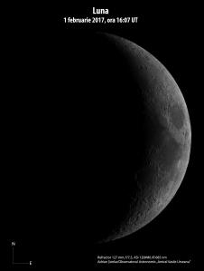 Luna în seara de 1 februarie 2017. Foto: Adrian Șonka