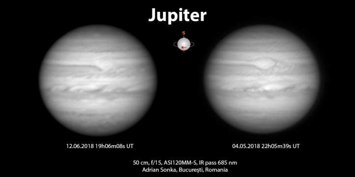 Aspectul aceleiași atmosfere la o diferență de 39 de zile.