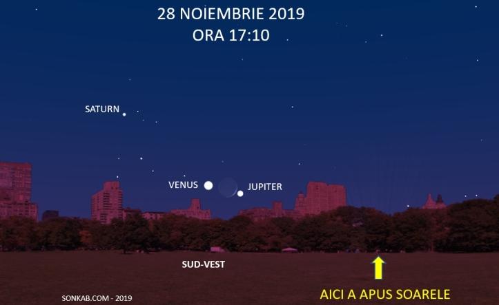 Întâlnire Jupiter, Lună, Venus