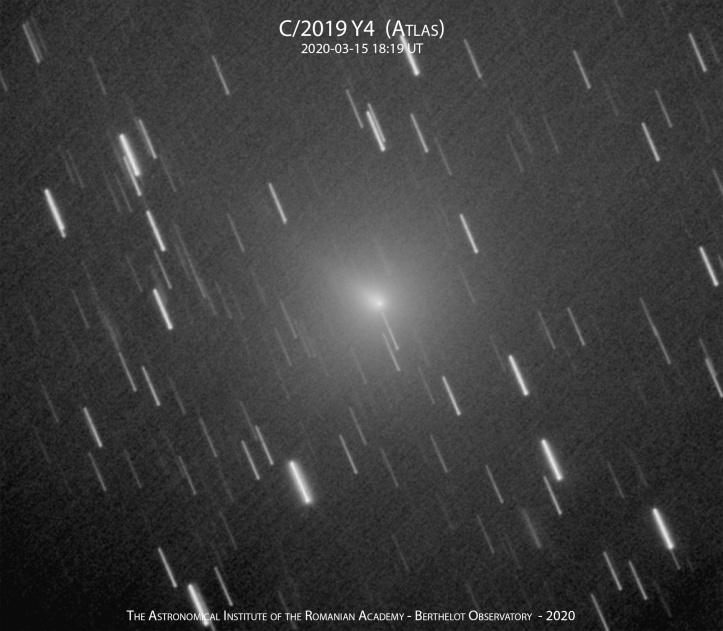 Cometa C/2019 Y4 (ATLAS) pe 15 martie 2020