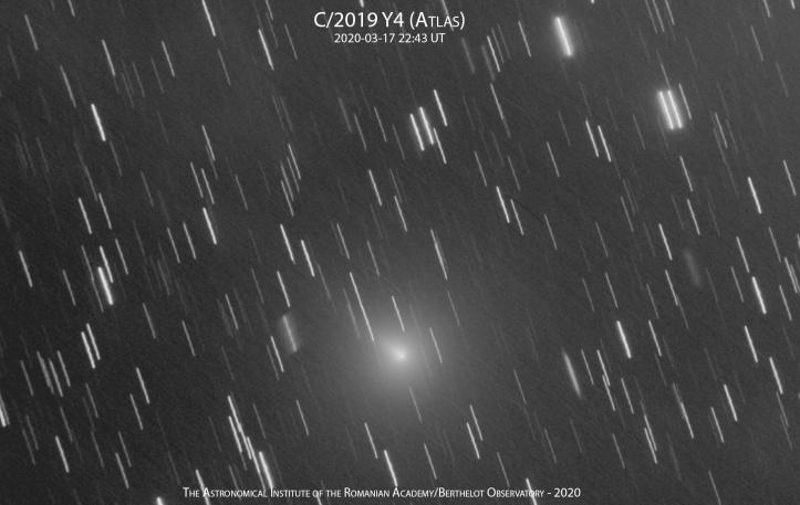 Cometa C/2019 Y4 (ATLAS) pe 17 martie 2020