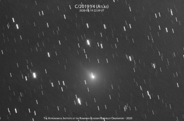 Cometa C/2019 Y4 (ATLAS) pe 19 martie 2020
