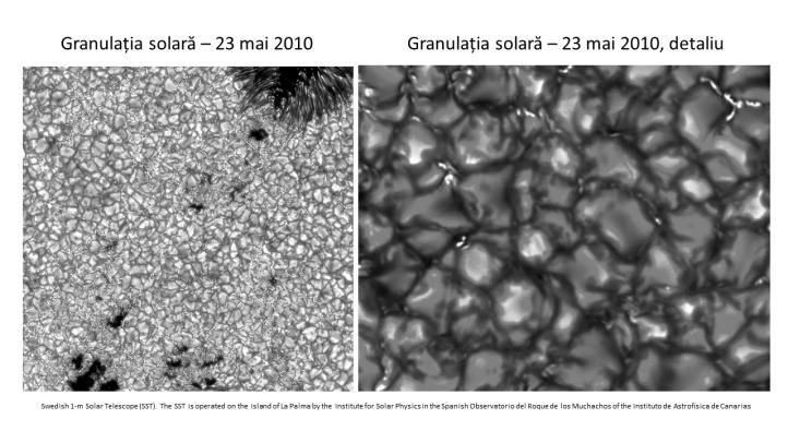 Granulația solară. Swedish Solar Telescope