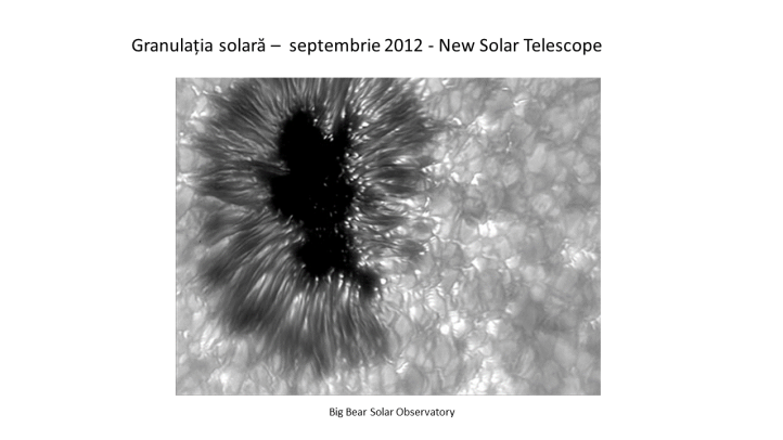 Granulația solară cu New Solar Telescope