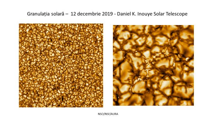 Granulația solară cu telescopul Daniel