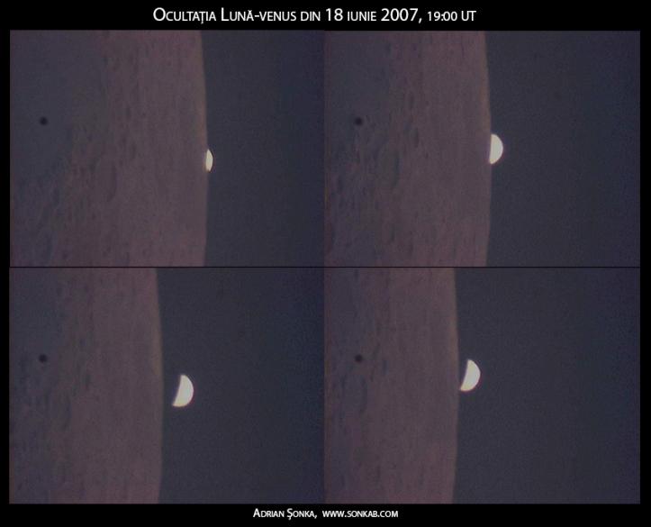 Ocultația Lună-Venus din 18 iunie 2007