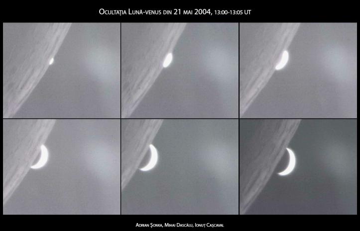 Ocultație Lună-Venus din 21 mai 2004