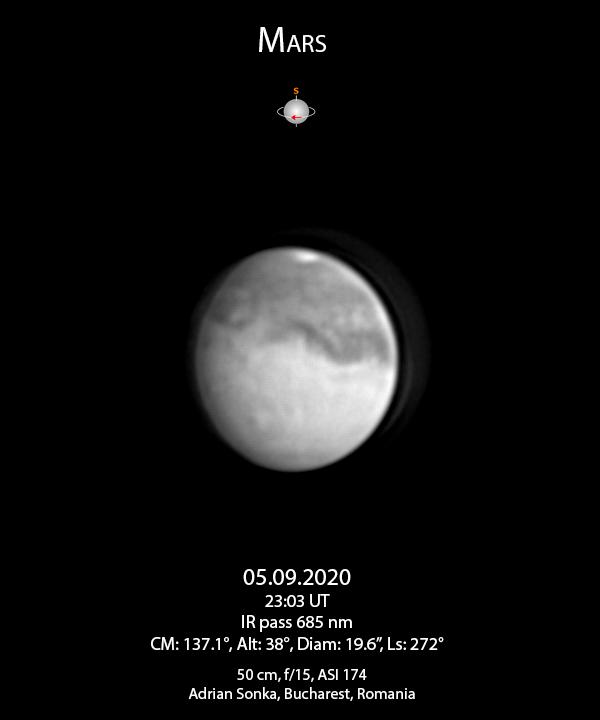 Marte pe 5 septembrie 2020