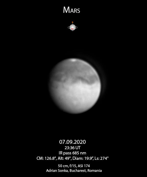 Marte pe 7 septembrie 2020