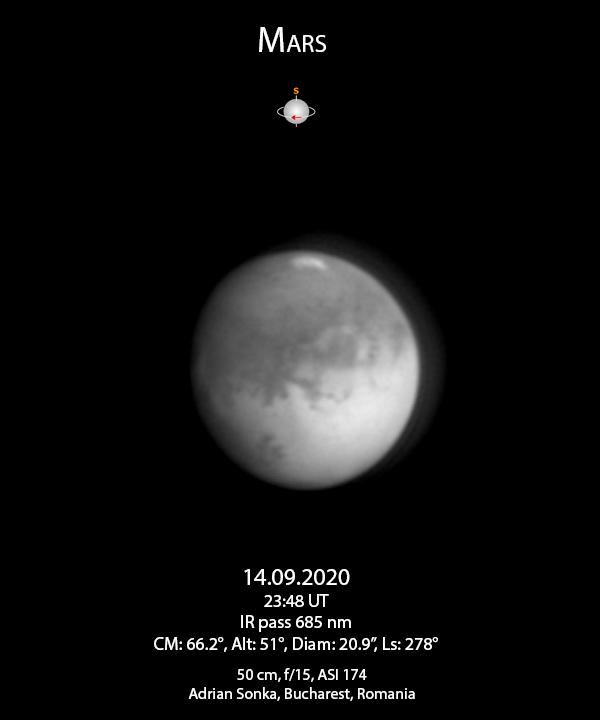 Marte - 14 septembrie 2020