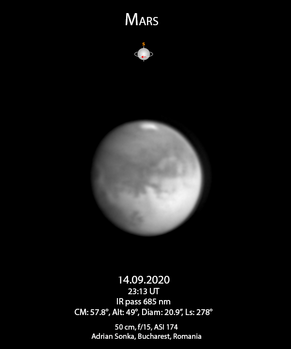 Marte 14 septembrie 2020
