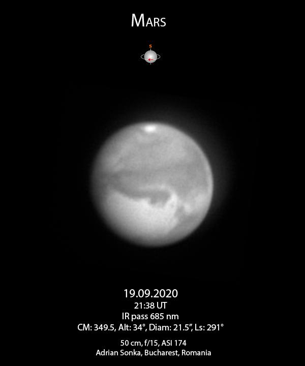 Marte pe 19 septembrie 2020