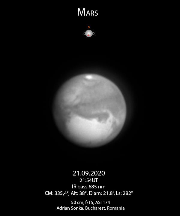 Marte pe 21 septembrie 2020