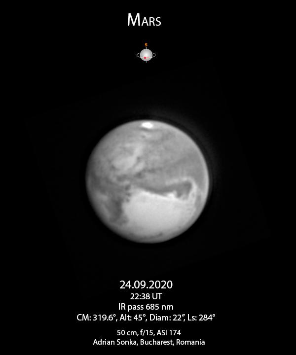 Marte pe 24 septembrie 2020