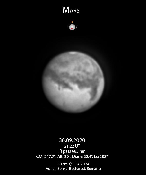 Marte pe 30 septembrie 2020