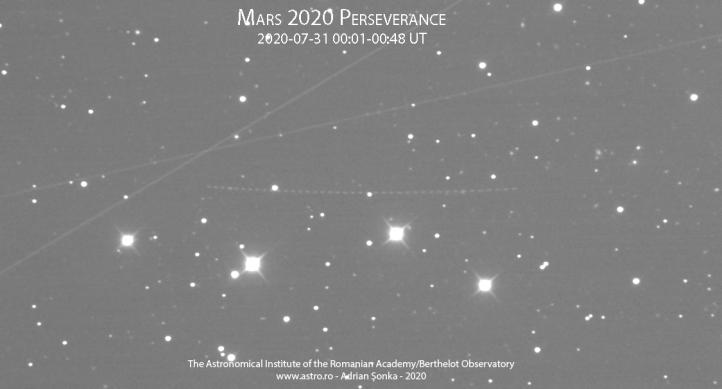Traiectoria curbată a sondei Mars 2020
