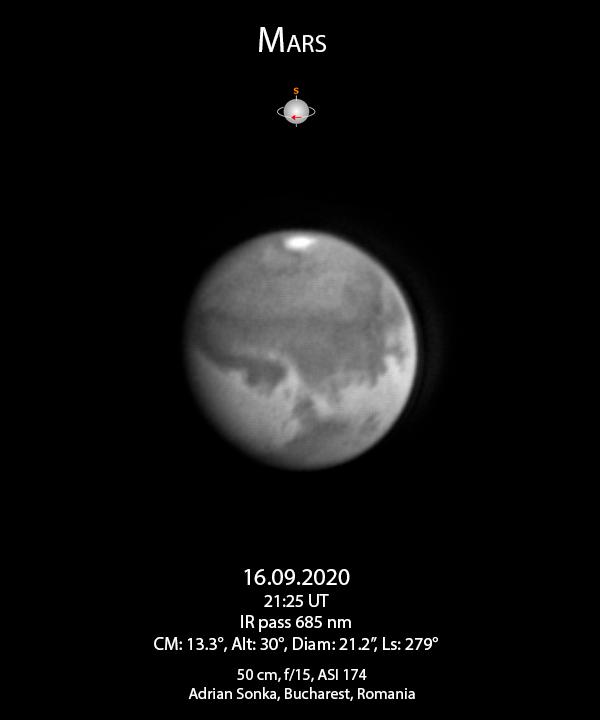 Marte pe 16 septembrie 2020